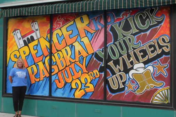 RAGBRAI art murals decorate Spencer