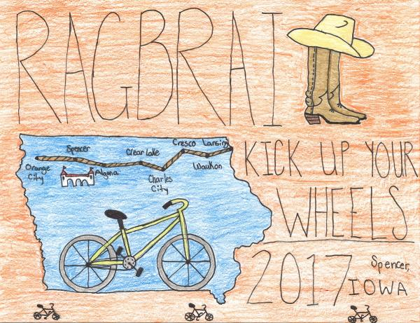 Time to vote for the 2017 RAGBRAI Kids Art Contest
